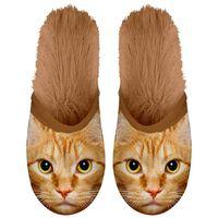 Plenty Gifts Zapatillas de felpa de animales gato marrón № 39-42 42553