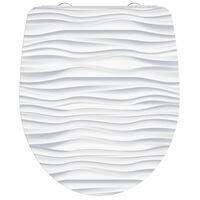 SCHÜTTE Tapa WC cierre suave WHITE WAVE duroplástico brillante blanco