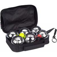 Get & Go Set de petanca VI 6 bolas plateadas 52JV-CHR-Uni