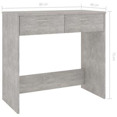 vidaXL Escritorio de aglomerado gris hormigón 80x40x75 cm