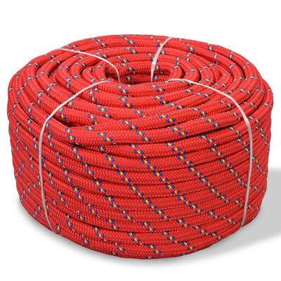 vidaXL Cuerda marina de polipropileno 6 mm 100 m rojo