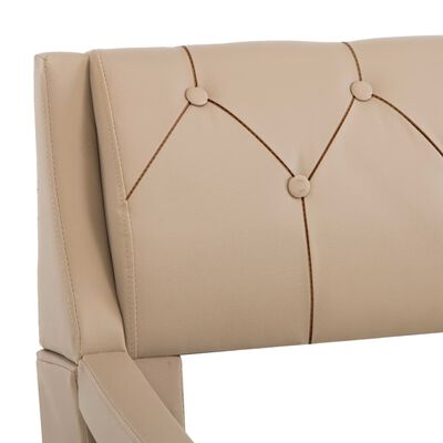 vidaXL Estructura de cama de cuero sintético color capuchino 100x200cm
