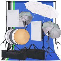 vidaXL Kit de iluminación de estudio de fotografía