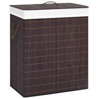 vidaXL Cesto de ropa sucia de bambú marrón 100 L