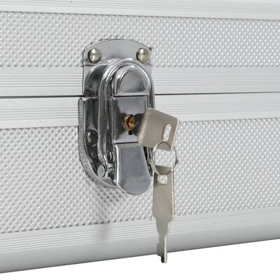 vidaXL Maletín para armas de aluminio plateado 134x35x12 cm