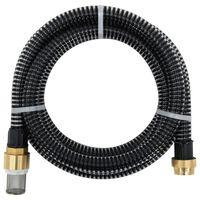 vidaXL Manguera de succión con conectores de latón 25 m 25 mm negra