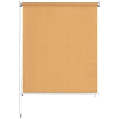 vidaXL Persiana enrollable de exterior 140x140 cm beige