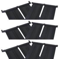vidaXL Panel calentador solar para piscinas 6 unidades 80x310 cm