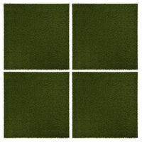 vidaXL Baldosas de césped artificial 4 unidades caucho 50x50x2,5 cm