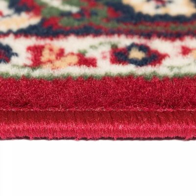 vidaXL Alfombra oriental roja y beige 80x150 cm