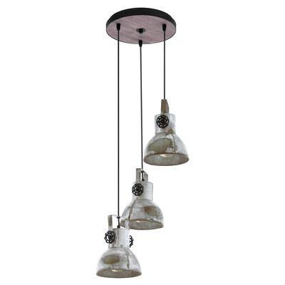 EGLO Lámpara colgante Barnstaple 3 bombillas pátina marrón y negro