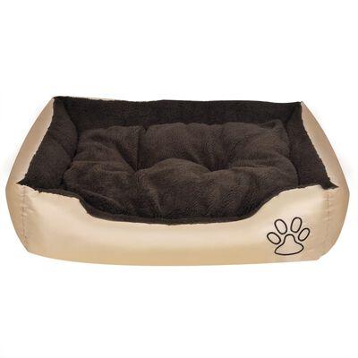 vidaXL Cama para perro con cojín acolchado talla XL