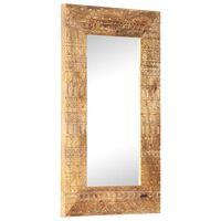 vidaXL Espejo tallado a mano madera maciza de mango 80x50x11 cm
