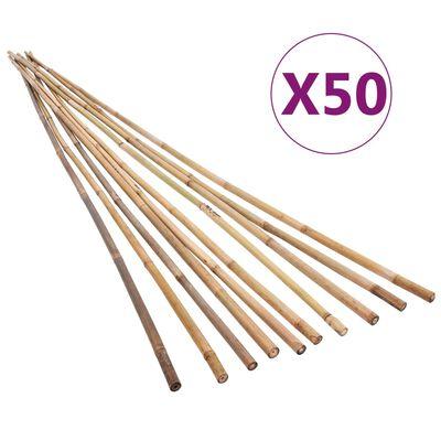 vidaXL Estacas de bambú para jardín 50 piezas 170 cm