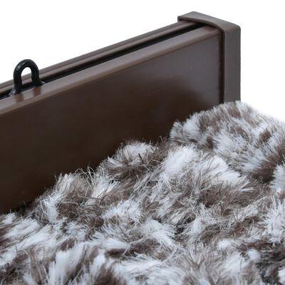 vidaXL Cortina mosquitera marrón y beige chenilla 56x200 cm