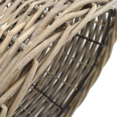 vidaXL Pantalla de lámpara de mimbre 30x20 cm natural