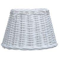 vidaXL Pantalla de lámpara de mimbre blanco 50x30 cm