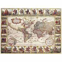 Impresión sobre lienzo - Mapa Antiguo No. 35
