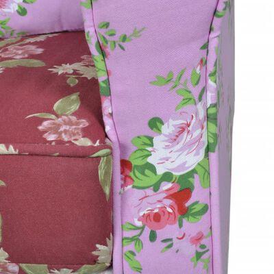 vidaXL Sillón con diseño de retales de tela