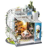 Robotime Kit de miniatura DIY Dora's Loft con luz LED