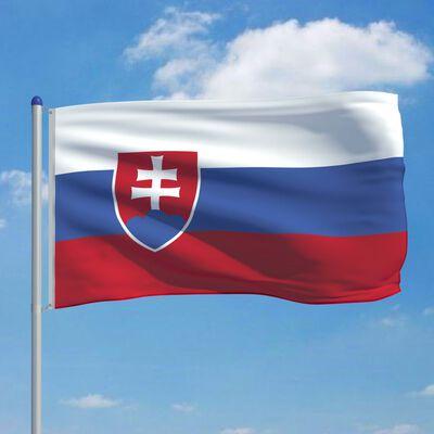 vidaXL Bandera de Eslovaquia y mástil de aluminio 6 m
