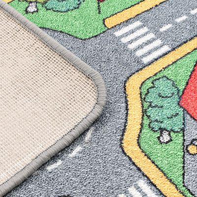 vidaXL Alfombra de juego 90x200 cm estampado carreteras