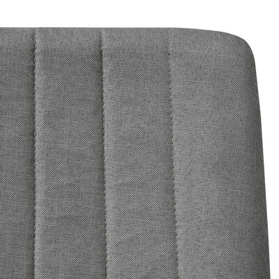vidaXL Sillas de comedor 6 unidades tela gris claro