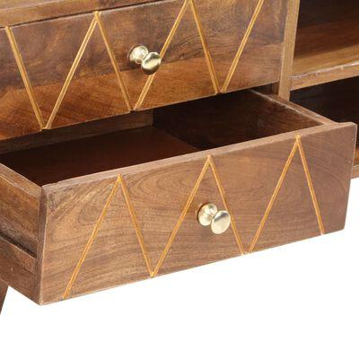 vidaXL Mueble para TV de madera maciza de mango 85x35x47 cm