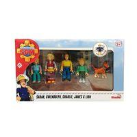 Fireman Sam Set de muñecos de juguete Jones Family