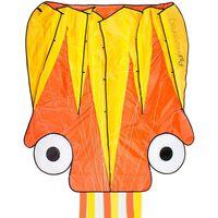 Dragon Fly Cometa en forma de pulpo naranja y amarillo 124x127 cm