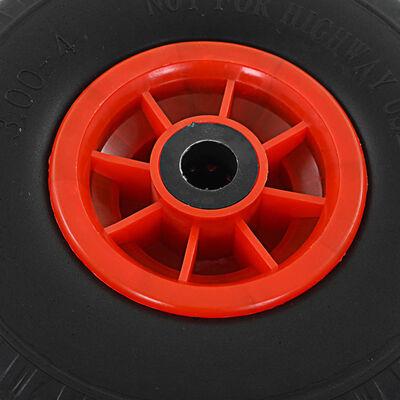 vidaXL Ruedas de carrito de sacos 4 uds PU macizo 3.00-4 260x85 mm