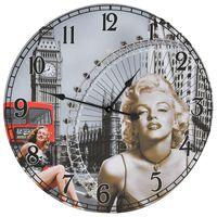 vidaXL Reloj de pared vintage Marilyn Monroe 60 cm