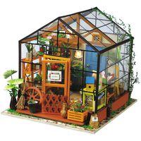 Robotime Kit de miniatura DIY Cathy's Flower House luz LED