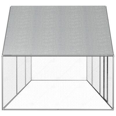 vidaXL Gallinero de acero galvanizado 6x2x2 m