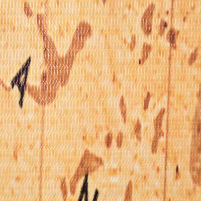 vidaXL Biombo divisor plegable 200x170 cm mapamundi amarillo