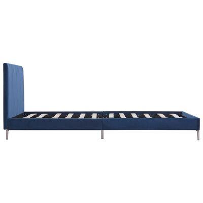 vidaXL Estructura de cama de tela azul 120x200 cm