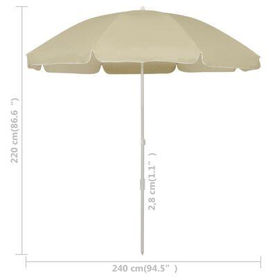 vidaXL Sombrilla de playa arena amarillo 240 cm