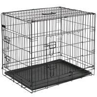 @Pet Jaula de perros metal 77,5x48,5x55,5 cm negra 15002
