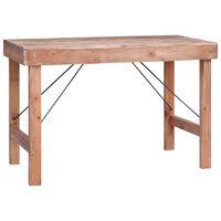 vidaXL Mesa de comedor de madera maciza reciclada 120x60x80 cm