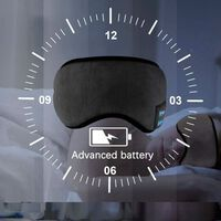 Máscara para dormir con auriculares Bluetooth 5.0 - negro