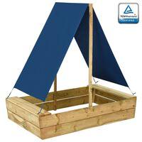 vidaXL Arenero con tejado de madera de pino impregnada 80x60x97,5 cm