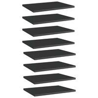 vidaXL Estantes estantería 8 uds aglomerado negro brillo 40x30x1,5 cm