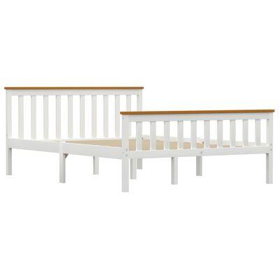 vidaXL Estructura de cama de madera de pino maciza blanca 140x200 cm