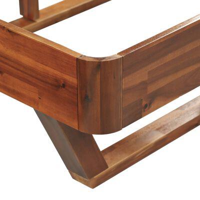 vidaXL Estructura de cama con 2 mesitas de noche acacia 180x200 cm