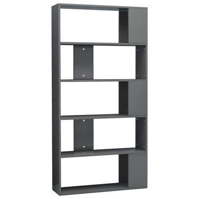 vidaXL Estantería/divisor espacio aglomerado gris brillo 80x24x159cm