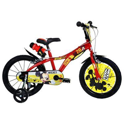 "Dino Bikes Bicicleta de niños Mickey Mouse roja 16"""