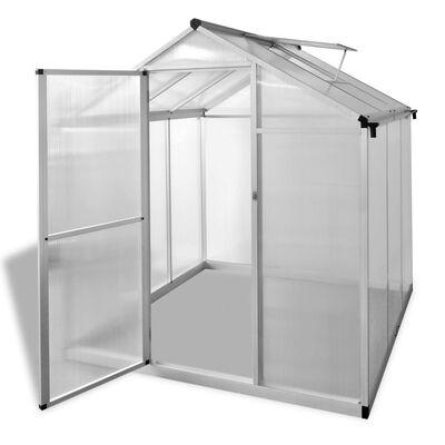 vidaXL Invernadero de aluminio reforzado 3,46 m²