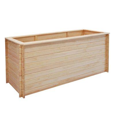 vidaXL Arriate de madera de pino 19 mm 200x50x80 cm