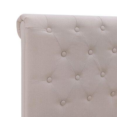 vidaXL Estructura de cama tela color lino claro 140x200 cm
