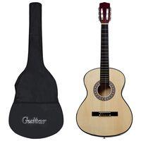"""vidaXL Set de guitarra clásica niños y principiantes 8 pzas 3/4 36"""""""